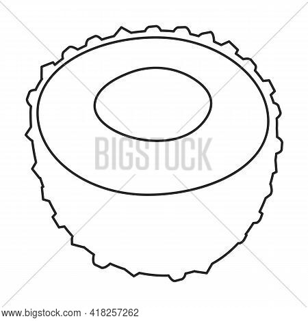 Lychee Vector Outline Icon. Vector Illustration Litchi On White Background. Isolated Outline Illustr