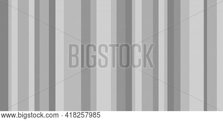 Seamless Pattern With Stripes. Striped Background For Design In A Vertical Strip. Black And White Co