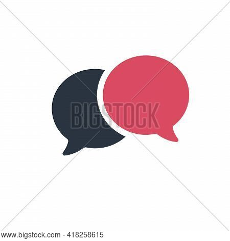 Two Way Chat Icon Vector. Talk Communication Sign. Stock Vector Illustration Isolated