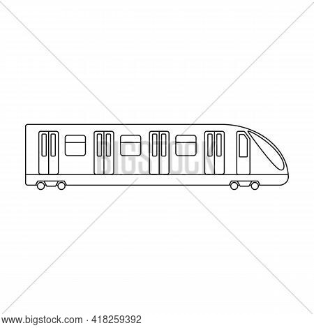 Subway Vector Outline Icon. Vector Illustration Cargo On White Background. Isolated Outline Illustra