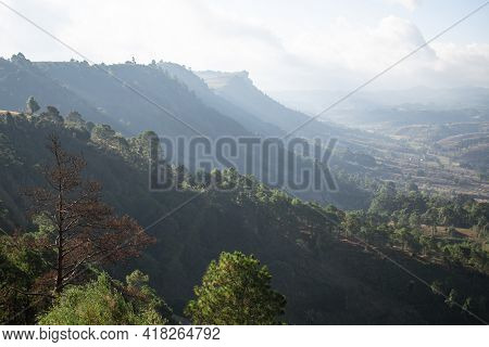Cliff Edge Over A Valley Between Kalaw And Inle Lake, Myanmar