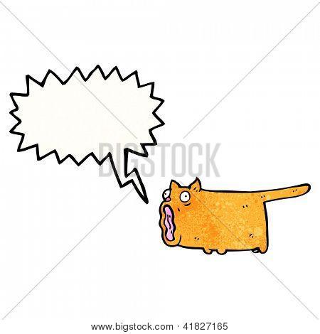cartoon screaming cat