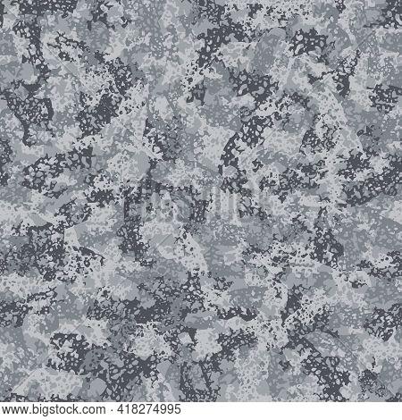 Camouflage, Modern Fashion Textile Design. Army Uniform. Camo Military Grunge Pattern. Monochrome, F