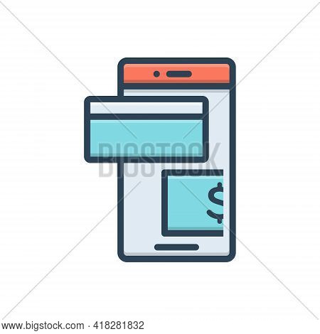 Color Illustration For Pay Salary Wage Payment Emolument Pay-packet
