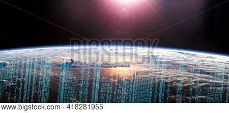 Worldwide Fast Internet Network Concept. Global Business And Finance. 4th Industrial Revolution. Glo