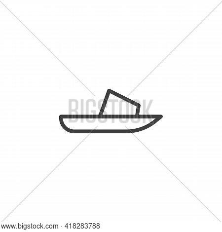 Slide Sandals Line Icon. Linear Style Sign For Mobile Concept And Web Design. Sandals Shoe Outline V