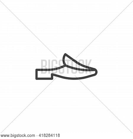 Mules Shoes Line Icon. Linear Style Sign For Mobile Concept And Web Design. Womens Mules Outline Vec