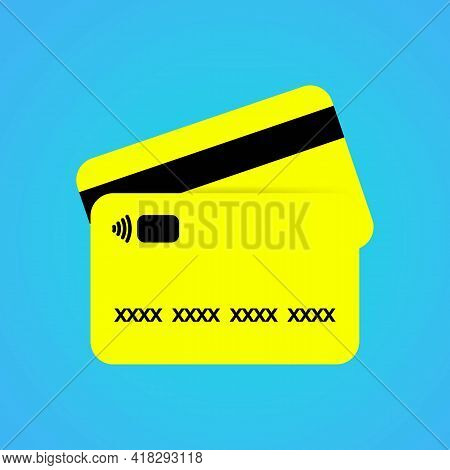 Credit Bank Cards Icon Or Logo In Color. Trendy Flat Isolated Pay Symbol, Sign Can Be Used For: Illu