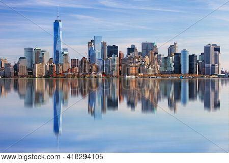 Panoramic View Of A Manhattan, New York
