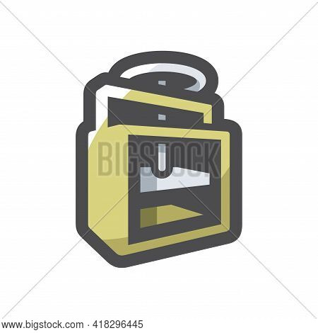 Press Waste Paper Vector Icon Cartoon Illustration