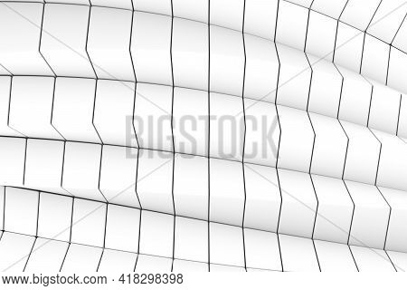 Black And White Triangles Abstract Background 3d Render Illustration