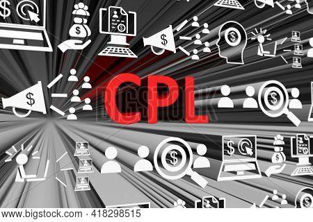 Cpl Concept Blurred Background 3d Render Illustration