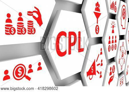 Cpl Concept Cell Background 3d Render Illustration
