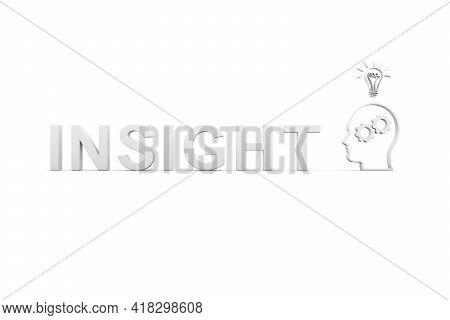 Insight Concept White Background 3d Render Illustration
