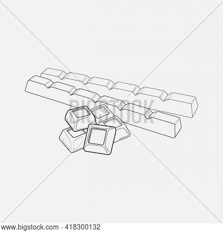 Swiss Chocolate Icon Line Element. Vector Illustration Of Swiss Chocolate Icon Line Isolated On Clea