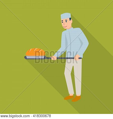 Vector Illustration Of Baker And Spatula Icon. Collection Of Baker And Bread Vector Icon For Stock.