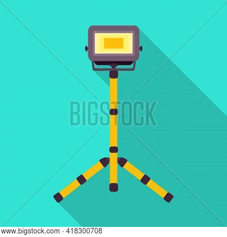 Vector Design Of Spotlight And Electric Symbol. Graphic Of Spotlight And Projector Stock Vector Illu