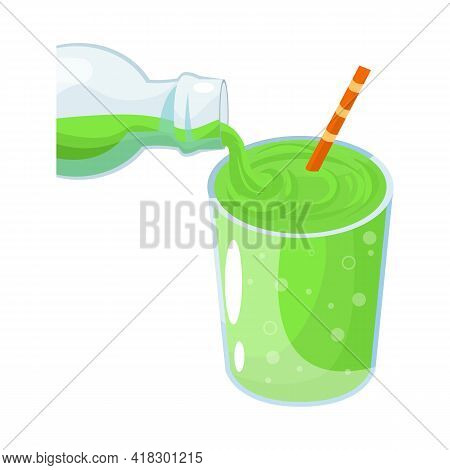 Vector Illustration Of Soda And Glass Symbol. Collection Of Soda And Lemonade Stock Vector Illustrat