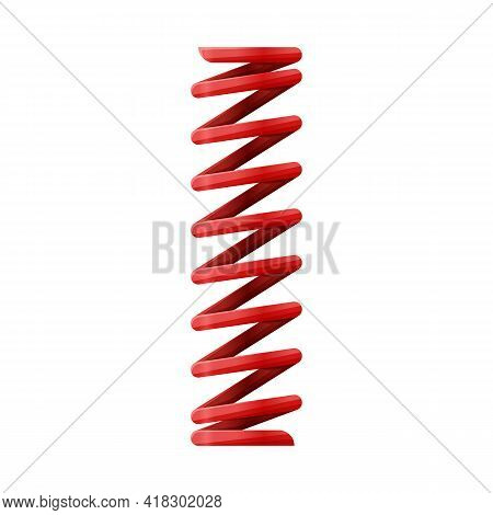Vector Illustration Of Coil And Spiral Sign. Web Element Of Coil And Absorber Vector Icon For Stock.