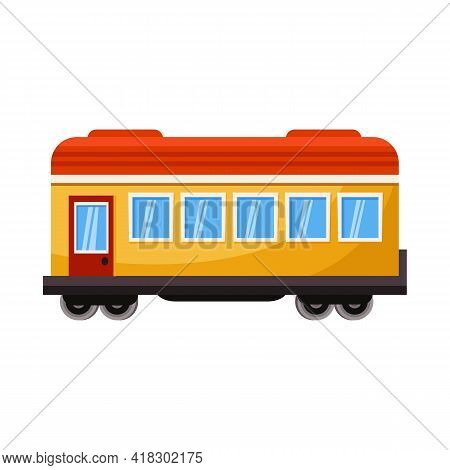 Isolated Object Of Wagon And Platform Symbol. Web Element Of Wagon And Speed Stock Symbol For Web.