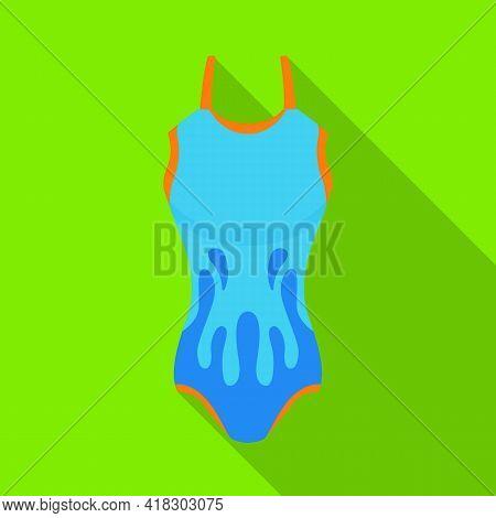 Vector Illustration Of Swimsuit And Bikini Sign. Web Element Of Swimsuit And Swimwear Stock Symbol F