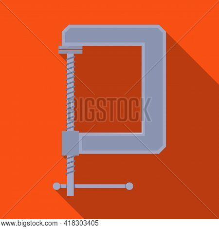 Vector Illustration Of Clamp And Screw Symbol. Graphic Of Clamp And Vise Vector Icon For Stock.
