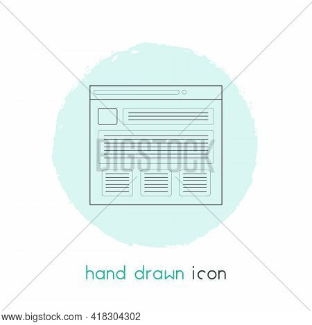 Text Content Icon Line Element. Illustration Of Text Content Icon Line Isolated On Clean Background