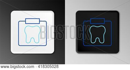 Line X-ray Of Tooth Icon Isolated On Grey Background. Dental X-ray. Radiology Image. Colorful Outlin