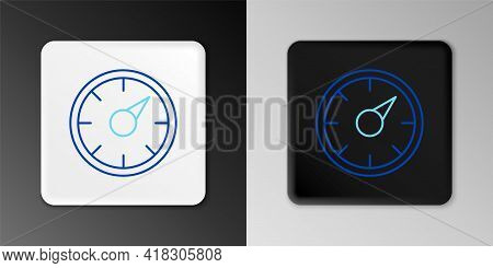 Line Digital Speed Meter Concept With 5g Icon Isolated On Grey Background. Global Network High Speed
