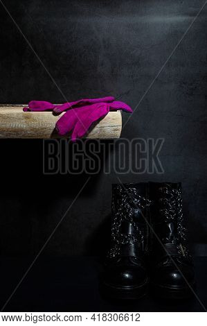 Pink Gloves And Boots