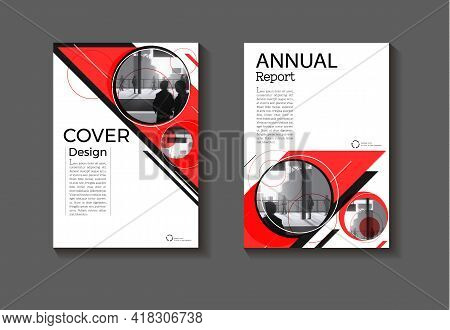 Cover Red Abstract Background Modern Design Modern Book Cover Brochure Cover  Template,annual Report