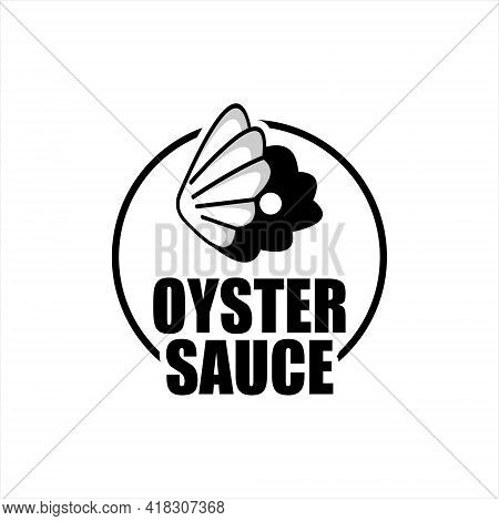 Oyster Sauce Logo Seafood Flavor Retro Label And Sticker For Culinary Industry Graphic Design Inspir