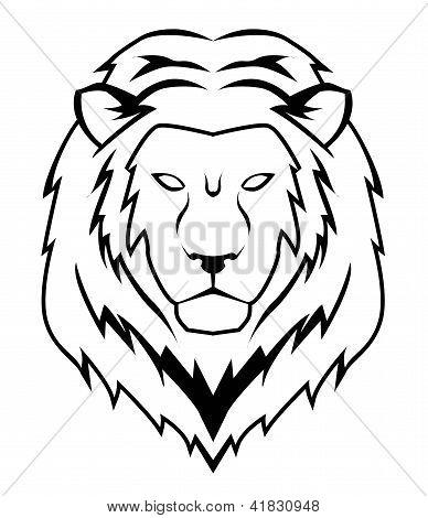 poster of lion face .eps editable vector illustration design