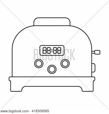 Toaster Vector Icon.outline Vector Icon Isolated On White Background Toaster.