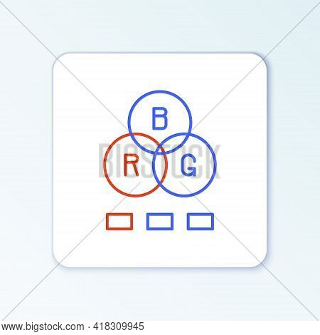 Line Rgb Color Mixing Icon Isolated On White Background. Colorful Outline Concept. Vector