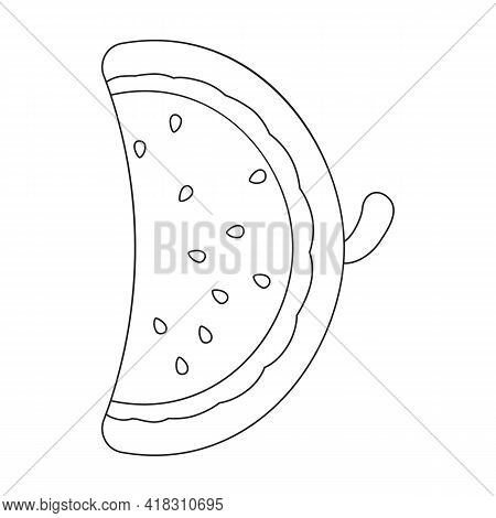 Water Mattress Vector Icon.outline Vector Icon Isolated On White Background Water Mattress.