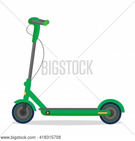 Vector Illustration Electronic Scooter On White Isolated Background