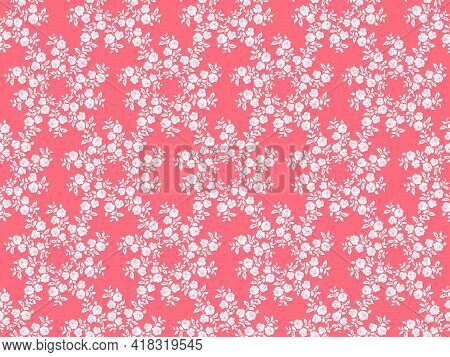 Decorative Pattern With Decorative Bouquets Of Roses