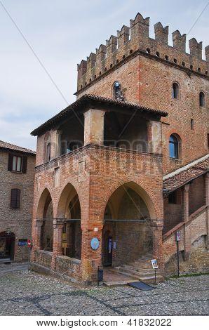 Podesta palace. Castell'Arquato. Emilia- Romagna. Italy.