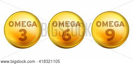 Acids Omega. Food Supplements Healthy Fatty Acid Epa Dha 3, 6 And 9 Organic Vitamin Nutrient Fish Oi