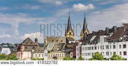 Church Towers Over The Skyline Of Koblenz, Germany