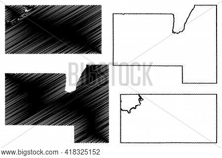 Fond Du Lac And Eau Claire County, State Of Wisconsin (u.s. County, United States Of America, Us) Ma