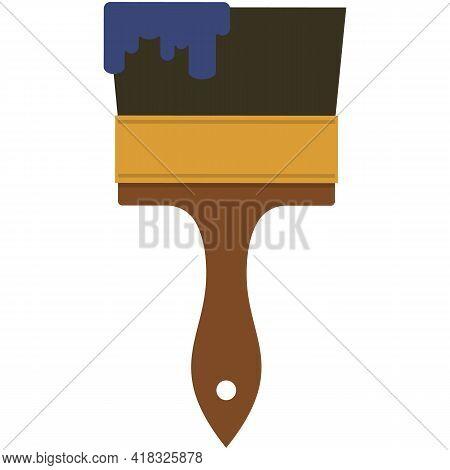 Paint Brush Icon Vector, Paintbrush Tool Illustration