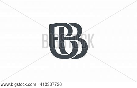 Bb Letter Binding Each Other Logo Concept Isolated On White Background.