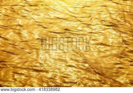 Gold wave texture. Nature design.