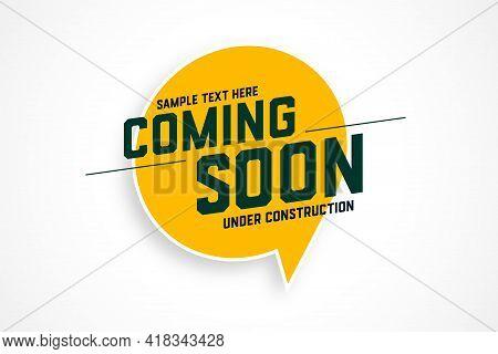 Coming Soon Under Construction Banner Design Vector Illustration
