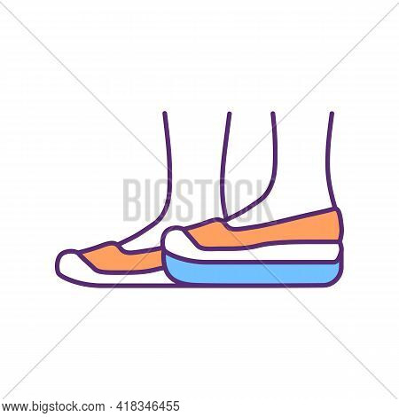 Pedorthics Rgb Color Icon. Orthotic Appliances. Footwear Evaluation, Fabrication And Modification. L
