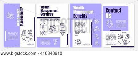 What Is Wealth Management Brochure Template. Wealth Advisor. Flyer, Booklet, Leaflet Print, Cover De