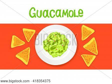 Avocado Guacamole Recipe Ingredients. Vegetable And Spices For Cook Guacamole - Tomato, Avocado, Lim