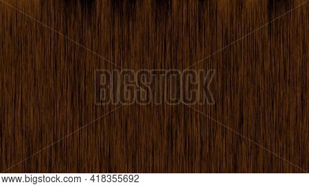 Dark Wood Striped Fiber Wood Texture. Vector Background. Abstraction